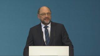 Statement Martin Schulz nach den erfolgreichen GroKo-Sondierungen
