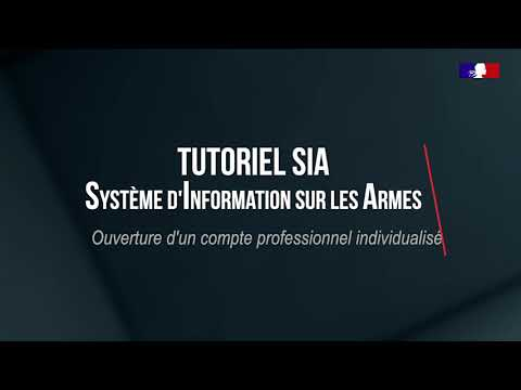 Tutoriel SIA : Portail professionnels : Ouverture d'un compte professionnel individualisé