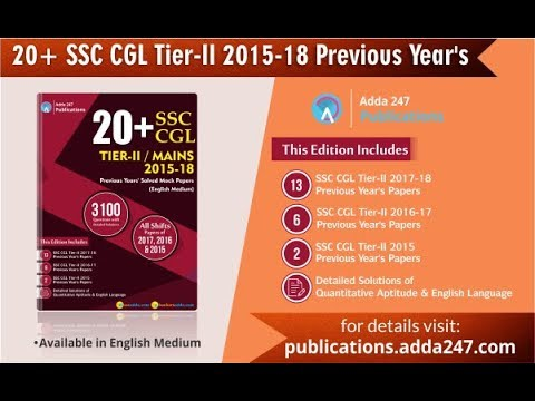 SSC CGL Tier-II | Previous Year's Papers Book | Adda 247 ...