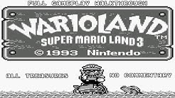 Wario Land: Super Mario Land 3 - Full Gameplay | All Treasures + Ending [ No Commentary ]