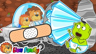 Lion Family | Funny Stories With Sticky Tape | Cartoon for Kids