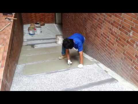 Cement Rendering On Driveway With Small Stone     Part  4