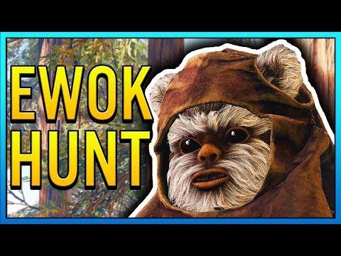 EWOK HUNT GAMEPLAY - Star Wars Battlefront 2 Ewok Hunt Mode