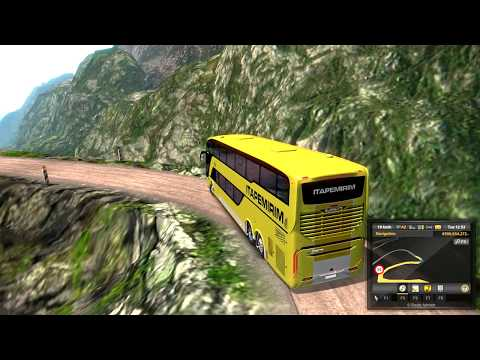 Dangerous Road/ Mountain Road with Scania Busstar S1 DD Euro Truck
