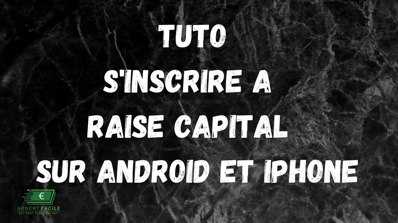 Tuto   comment s'inscrire a Raise Capital Smart Contract sur iphone et android