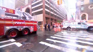 Helicopter Crash Lands on New York City Skyscraper