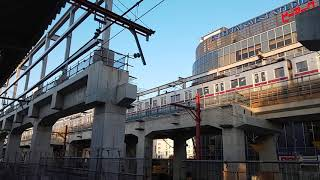 メトロ8000系(18000系に置き換えへ) 竹ノ塚駅高架通過