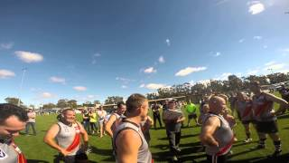 Boort Legends Game - Barney's Final Quarter Motivational Talk caught on Go Pro