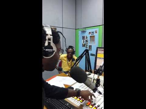 Moonie live interview in Barbados on 98.1 fm with