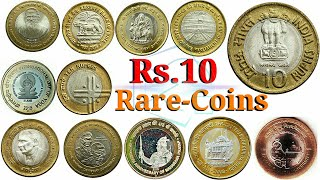 Gambar cover All Rs. 10 Coins || 10 Rupee coins || Rs. 10 ₹ coin || All  Types coins of Rs 10 Rare coin