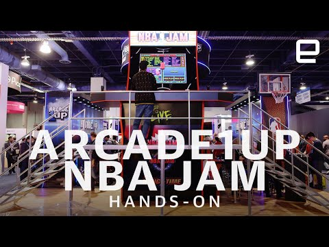 Arcade1Up's massive NBA Jam machine hands-on at CES 2020