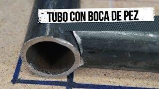 """Como hacer uniones """"Boca de Pez"""" en tubos redondos."""