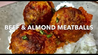 BEEF & ALMOND MEATBALLS **for the family**