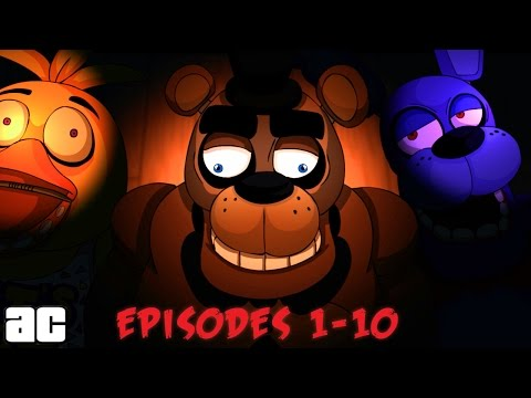 Five Nights At Freddy's Series Compilation Episodes 1-10 | @ArcadedCloud