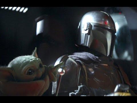 Мандалорец и малыш Йода
