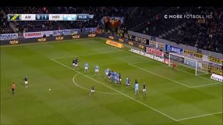Sebastian Larsson, Frisparksmål AIK - MFF 1-1