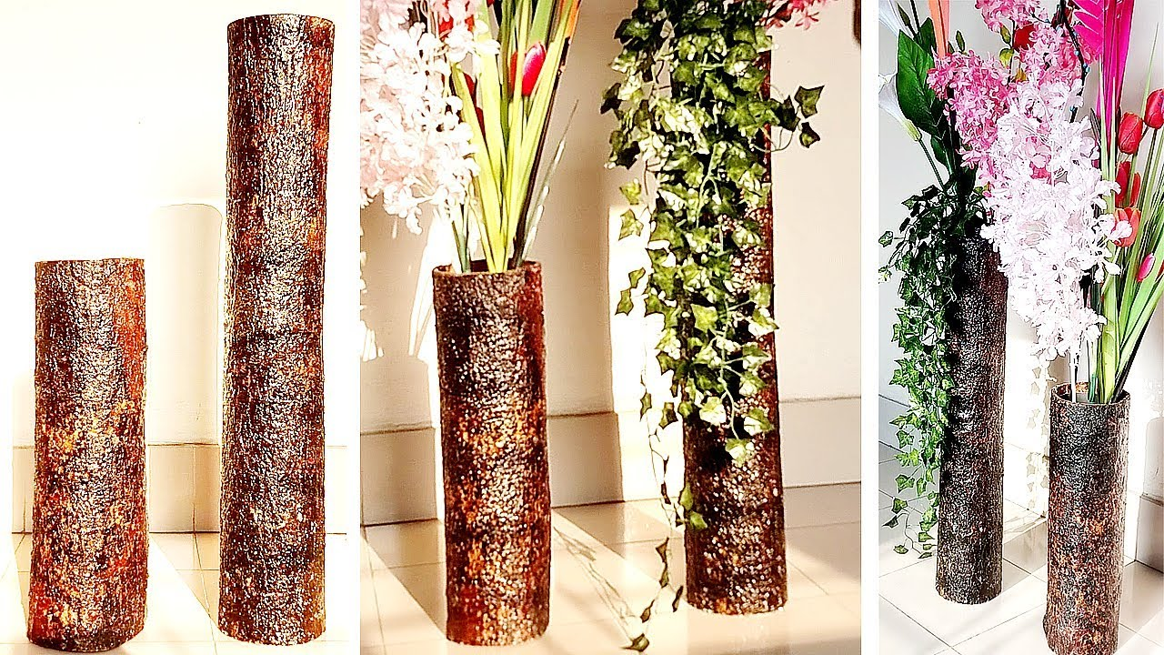 Big Size Corner Flower Vase Tree Bark Flower Vase Diy Home Decor Ideas Youtube