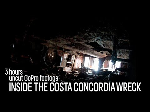 Costa Concordia -  Exploring the wreck - Raw and unedited GoPro video footage