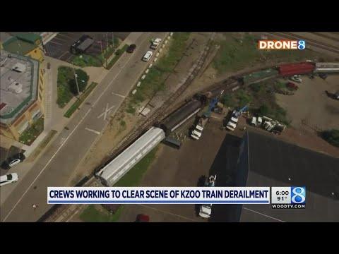 'Creaking, crunching': Train derails in Kalamazoo