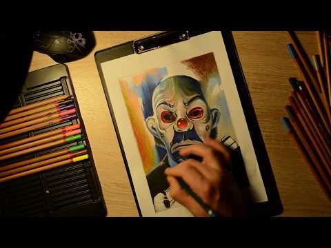 Рисование тату эскиза \\ Джокер / Drawing tattoo sketches / Joker \\