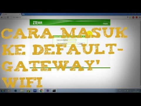 cara masuk ke default/home gateway wifi, cara melihat alamat ip default gateway