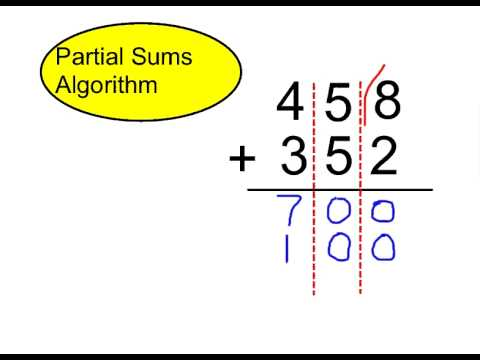 math worksheet : partial sums addition : Partial Sums Addition Worksheets