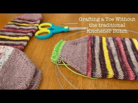Closing a Toe without using a Traditional Kitchener stitch<a href='/yt-w/kihaxekIQDQ/closing-a-toe-without-using-a-traditional-kitchener-stitch.html' target='_blank' title='Play' onclick='reloadPage();'>   <span class='button' style='color: #fff'> Watch Video</a></span>