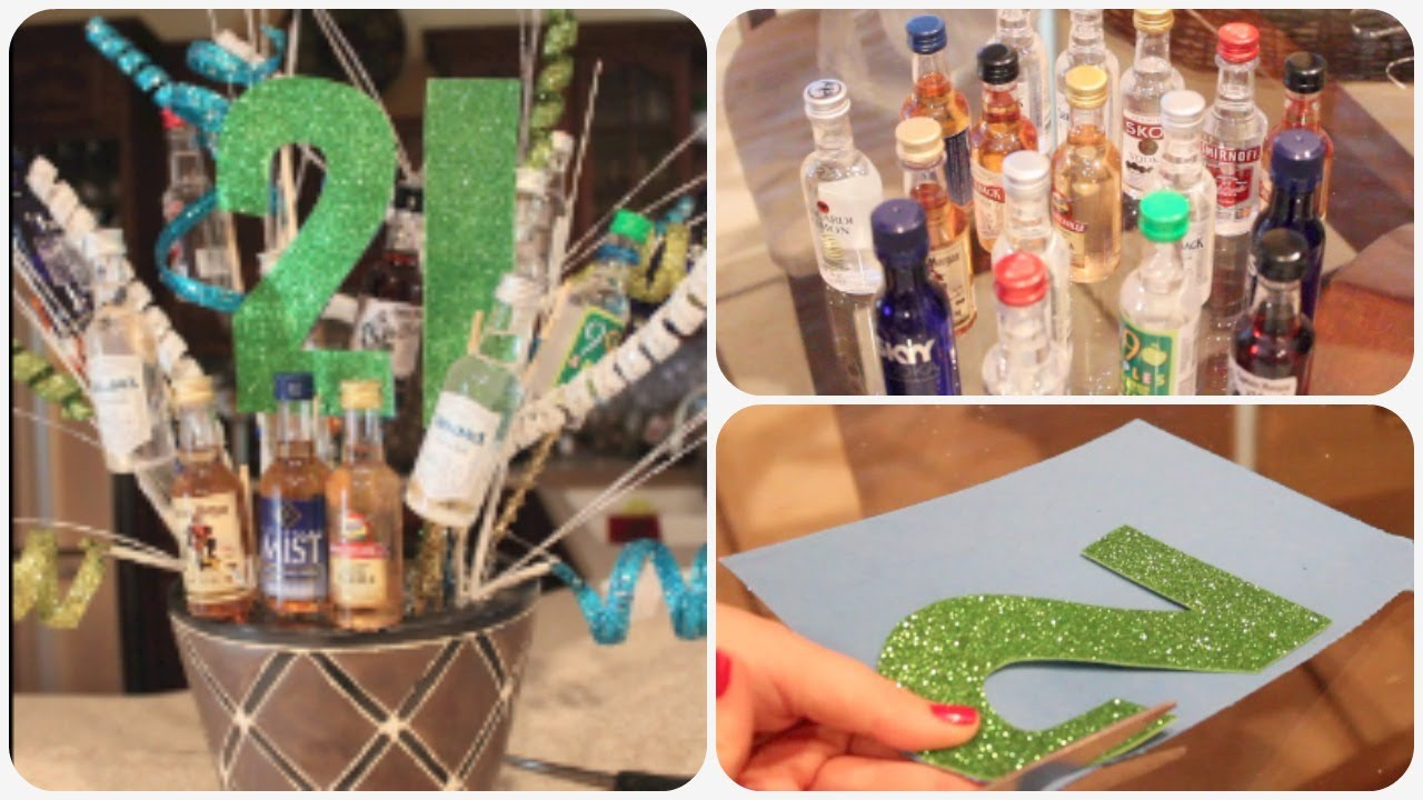 Diy 21st Birthday Present Pinterest Inspired Spreadinsunshine15 Youtube