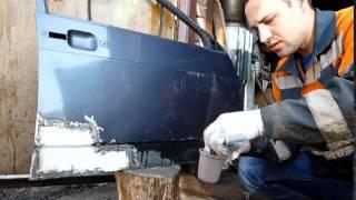 Как убрать фасадную краску с кузова автомобиля