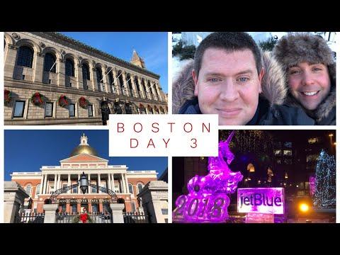 Vlogmas Bonus Day 31 - New Years Eve in Boston, Copley Square, Boston Public Garden and Common