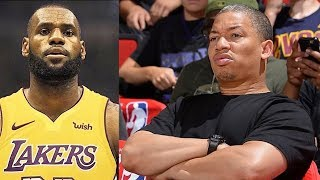 LeBron James Hurt Tyronn Lue and Shocked Him After Leaving Cleveland Cavaliers To Join The Lakers!