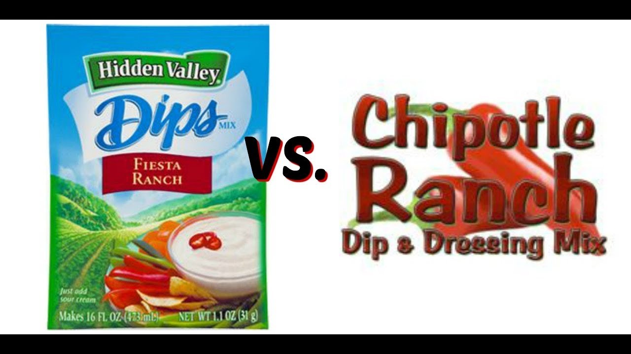 Hidden Valley Fiesta Ranch Vs Firehouse Pantry Chipotle