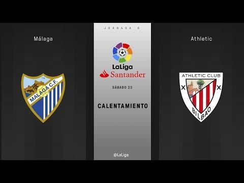 Calentamiento Málaga vs Athletic