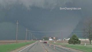 4 9 2015 rochelle il destructive wedge tornado b roll