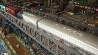 Amarican Diesels meet on Chania Bridge in Marklinistanbul