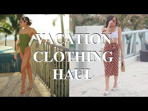 cebafc3ce32 HUGE VACATION CLOTHING HAUL 2019 - YouTube