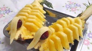ตกแต่งสับปะรด,จัดจานให้ดูสวยและมีศิลปะแบบง่ายๆ by saijai