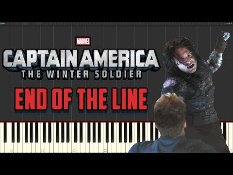 End Of The Line (Captain America: The Winter Soldier OST) - Henry Jackman - Piano Tutorial