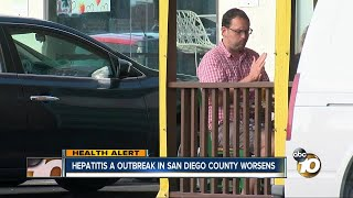 Hepatitis A outbreak in San Diego county worsens