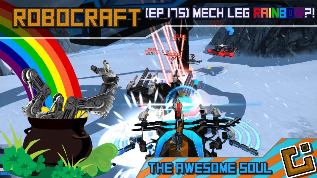 Robocraft (EP 175) Mech Leg Rainbow?! - clipzui com