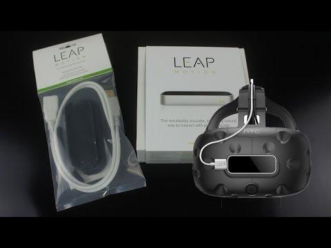 Leap Motion VR套件組 開箱介紹 搭配HTC Vive [按CC開字幕]