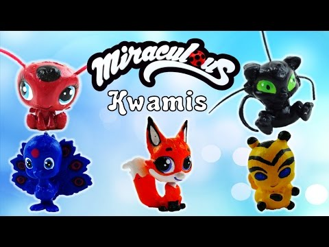 Compilation - Miraculous Ladybug Kwami Tikki Plagg Trixx Duusu Bee Custom Transformation Toys
