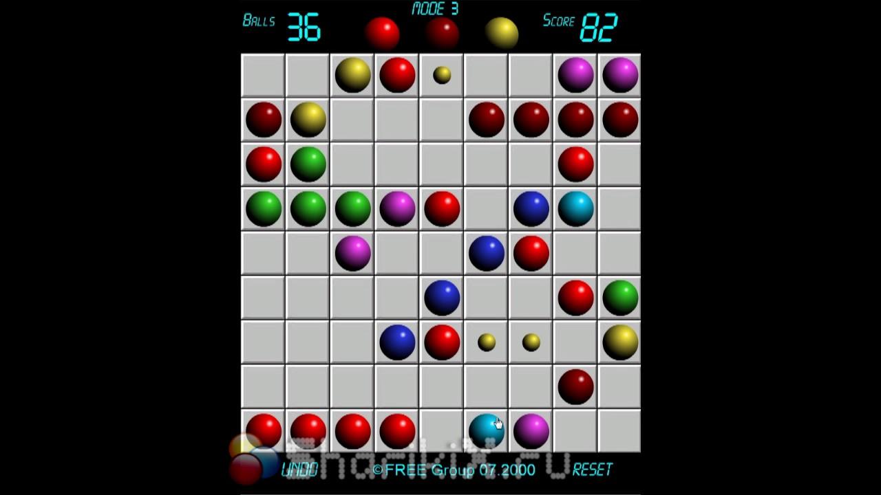 Игра в шарики Линии 98 (Цветные Линии) - YouTube
