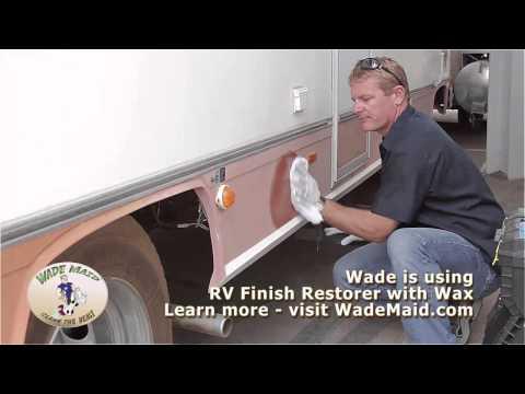 Restoring Faded RV Fiberglass Finish By Hand