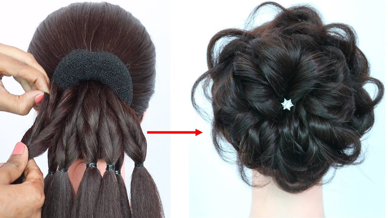 Messy Bun Trick New Hairstyle Hairstyle For Gown Hairstyles For Girls Prom Hairstyles