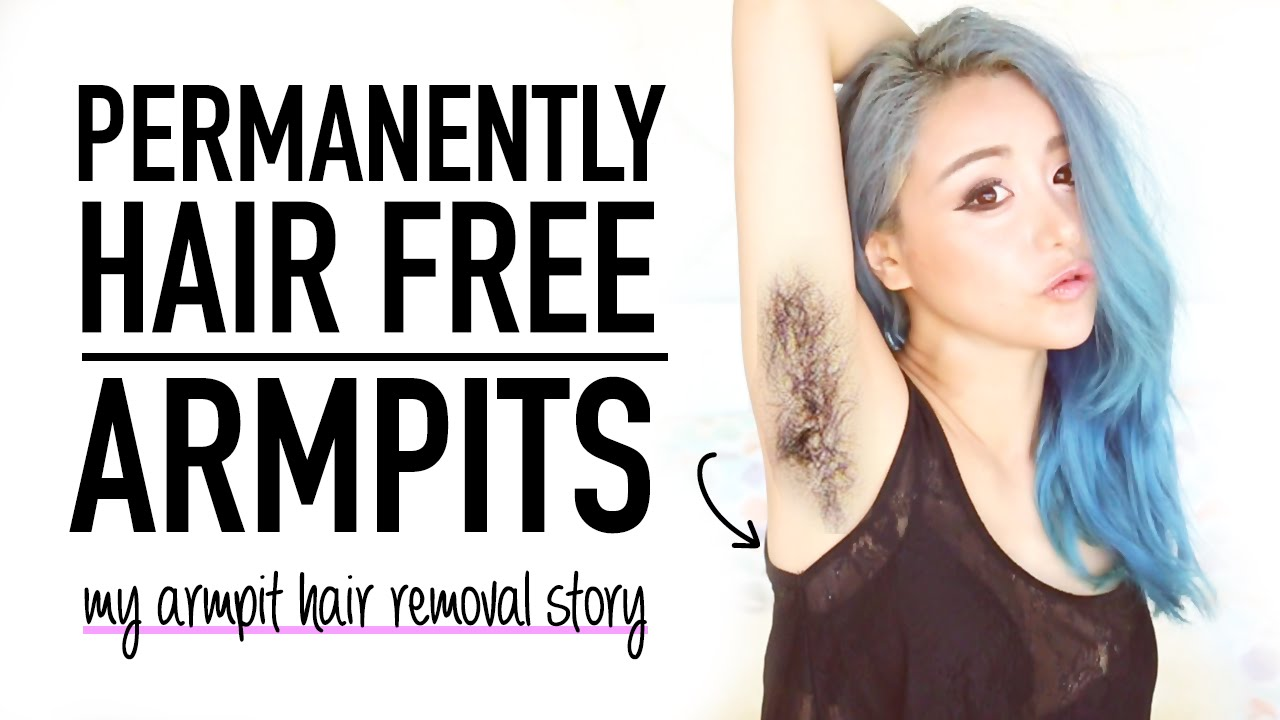 how i removed my armpit hair permanently ♥ no waxing underarm