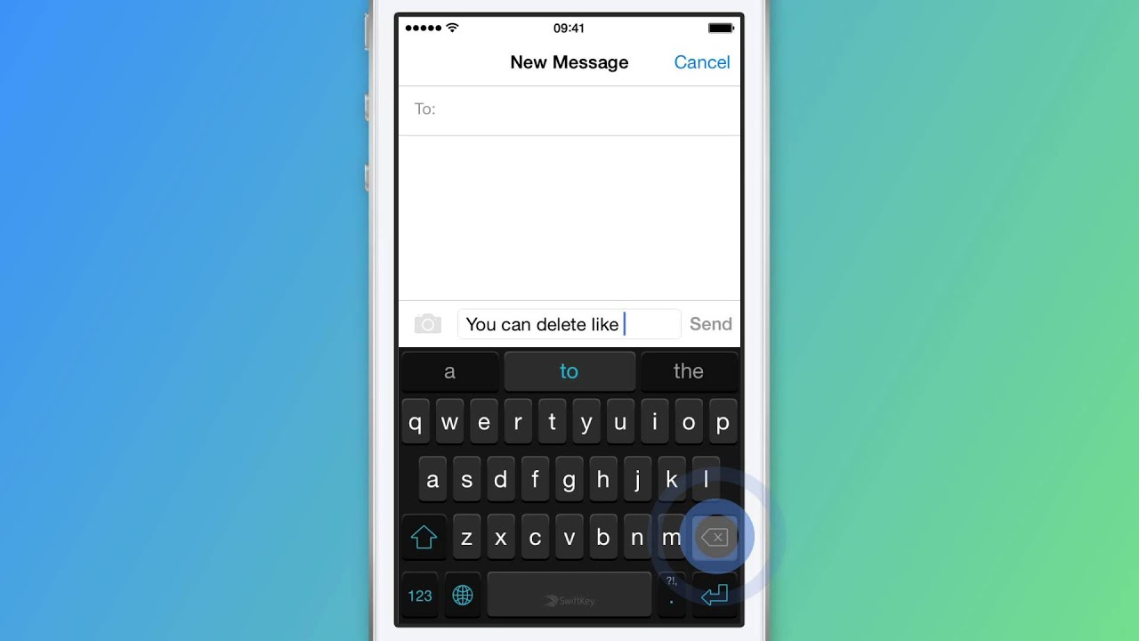 9a6fdec13b1 How to delete a word - SwiftKey Keyboard for iPhone, iPad and iPod touch