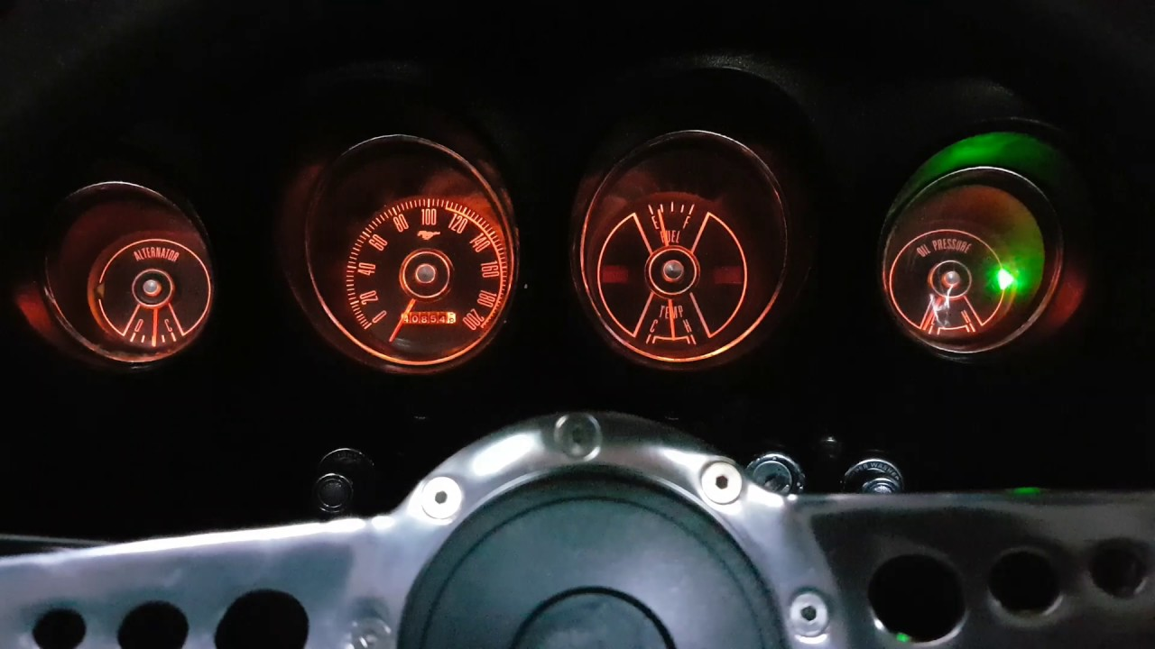 Mustang 1969 Led Instrument Cluster Youtube