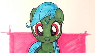 How to draw a pony - Front view