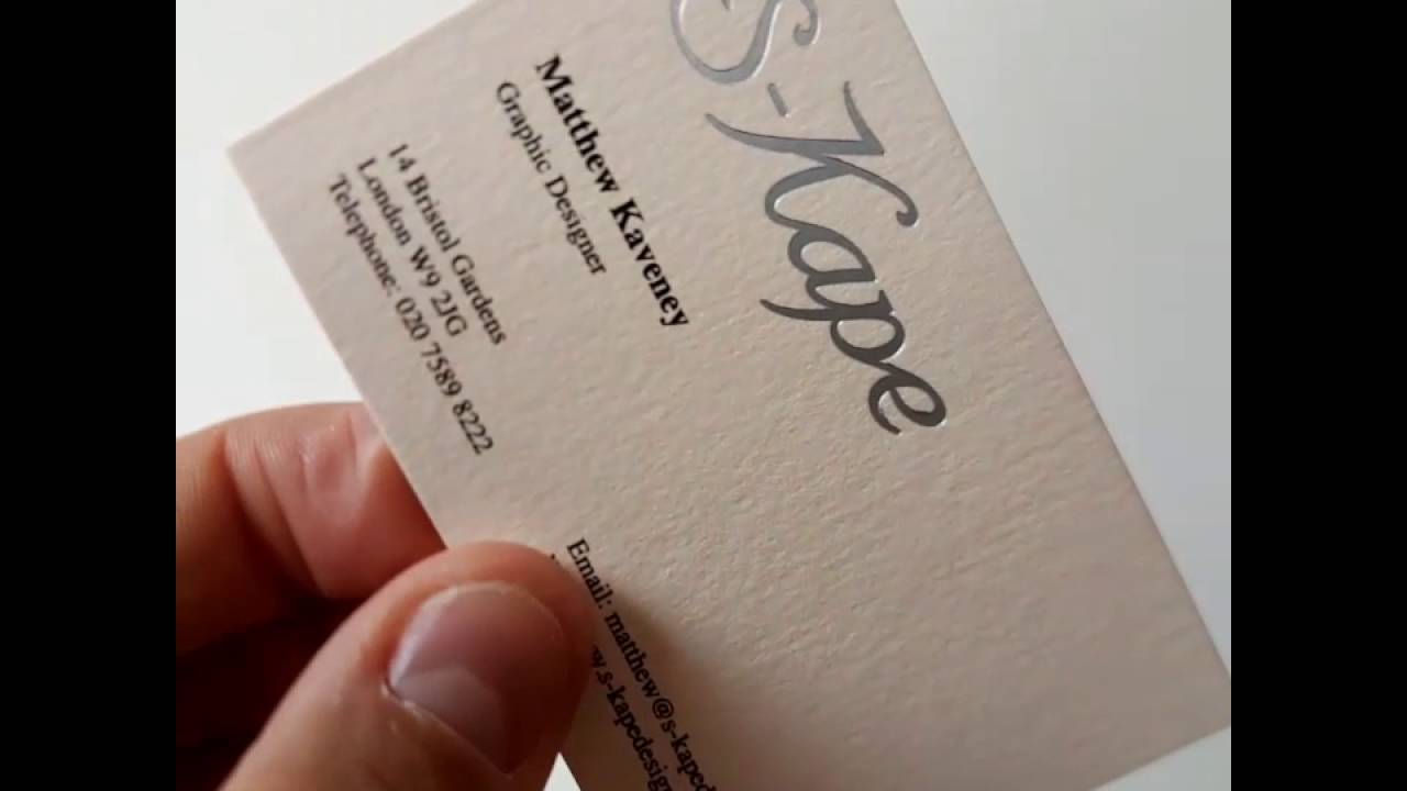 350gsm Colorplan Business Cards - YouTube